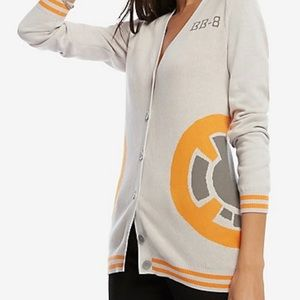 Sweaters - Star Wars BB-8 boyfriend cardigan NWT